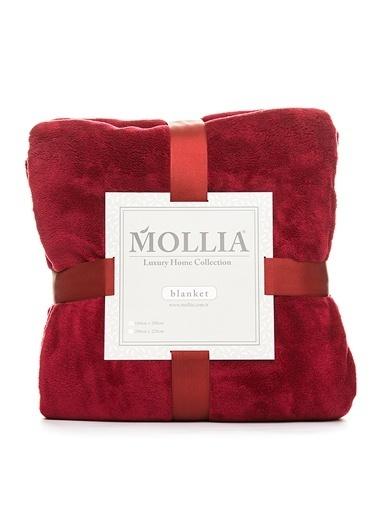 Mollia Soft Touch Tek Kişilik Battaniye Bordo